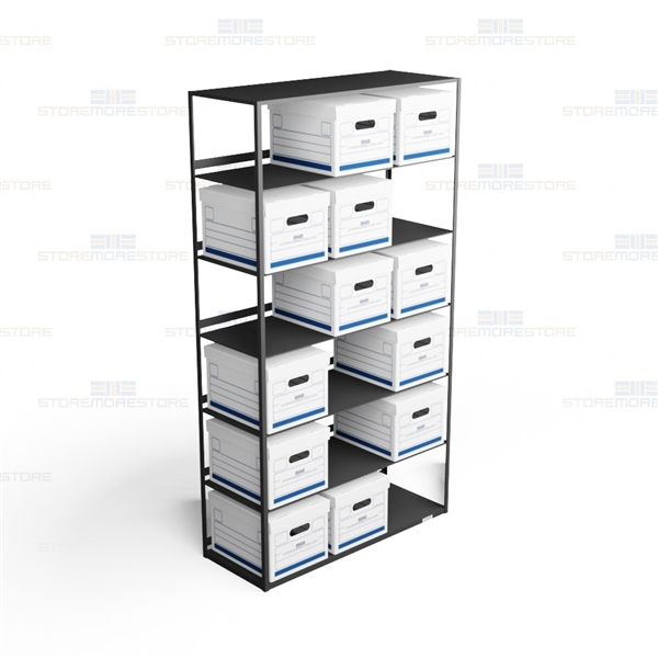 file box racks letter legal record box storage storing file rh storemorestore com file box storage shelving Bankers Storage File Box Shelves