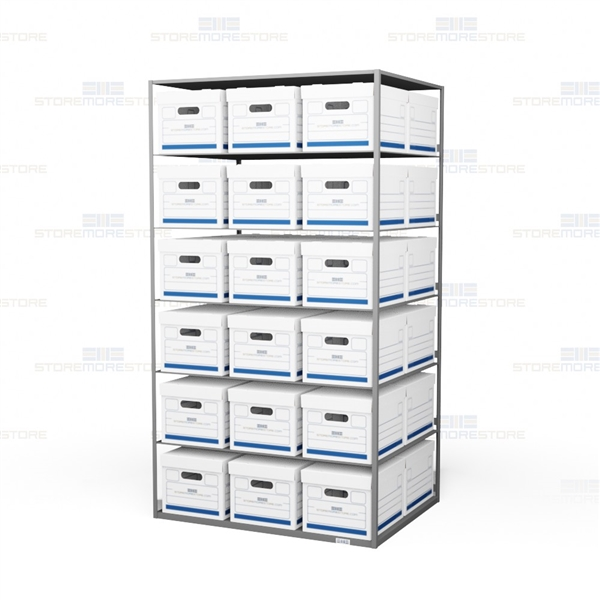 archive box storage shelves file box shelving metal records rh storemorestore com Bankers Storage File Box Shelves File Box Storage System