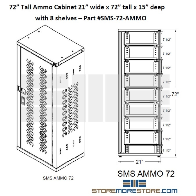 Ammo Storage Cabinet Storing Ammunition Locking Safe Adjustable