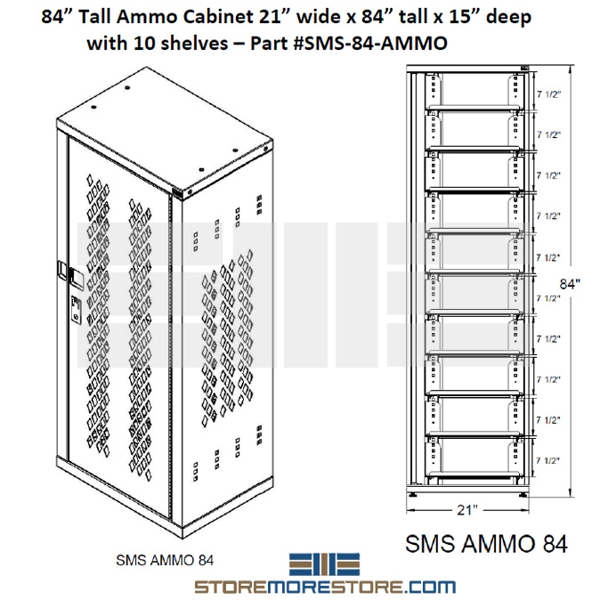 Ammo Storage Cabinet Storing Ammunition Locking Safe Adjustable ...