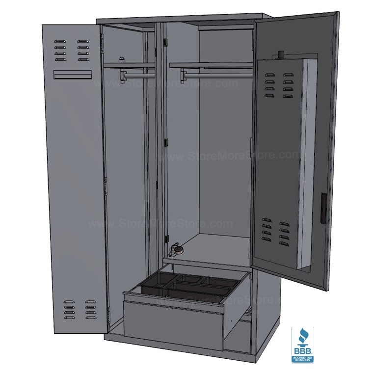 Military Personnel Wall Lockers Cadet Gear Storage