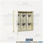 Digital Handgun Wall Cabinet Recessed 6 Pistol Locker Keypad Entry Sidearm Storage