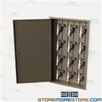 Twelve Pistol Wall Cabinet Storage Sidearm Handguns Ammo Locking Security Safe