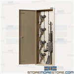 AR-15 Wall Locker Cabinet M$ M16 Pistol Ammo Storage Locker Keypad Lock Datum
