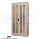 "Ventilated Tactical Gear Lockers (3' 6""W x 2'D x 6' 4""H), #SMS-20-TA50-422476-ECON"
