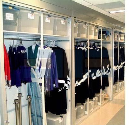 Double Rod Hanging Racks For Police Uniforms Law