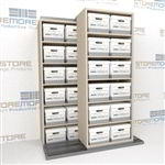 "Lateral Sliding Shelves Storing 12""x15"" Letter Legal Record File Boxes 
