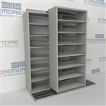 Slide-a-side shelving, side-to-side shelves, Double Deep racks, Datum