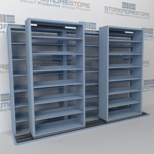 Mobile Sliding Filing Shelves B232LT-4P7   Sideways Rolling File System
