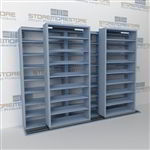 Wheeled File Shelves on Rails B232LT-4P8 | Rolling Filing Storage