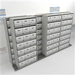 Side to Side Sliding Shelves for Letter Legal File Boxes | Shelving On Rails | SMSB243BX-4P7