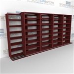 Two Rows Storage Shelving Sliding on Tracks Storing Archive Record File Boxes | SMSB254BX-4P7