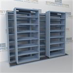 Mobile shelving sliding compact file shelves high density storage rolling cabinets