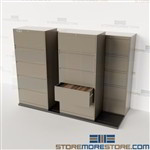 Lateral File Cabinets on Tracks Rolling Double Deep Filing System TrakSlider