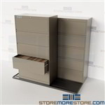 Rolling Lateral File Cabinets Compacting Filing Storage Space Datum TrakSlider
