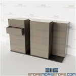 High Density Lateral File Cabinet Systems Rolling Track Filing Storage Datum