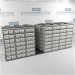 Mobile Box Shelving on Wheels Storing Archival Documents Records File Boxes | SMSQ087BX-4P7
