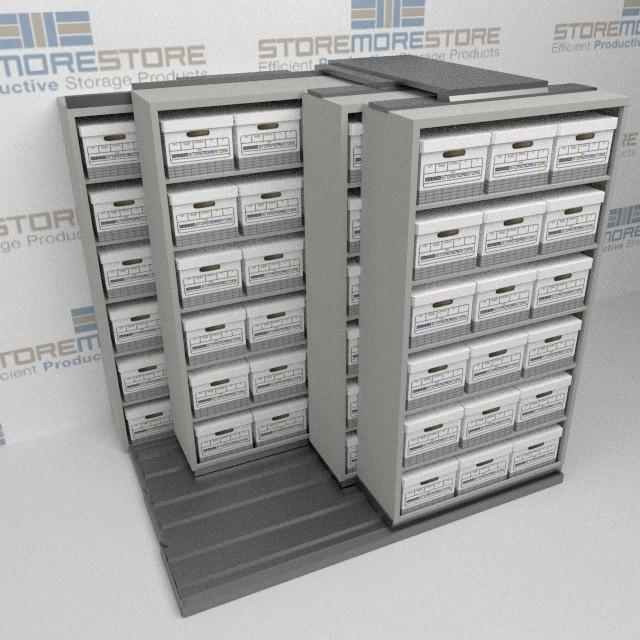 Alternative Views & Rolling Shelves Letter/Legal Archival File Box Storage Racks ...