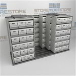 Space Saving Rolling Box Storage Shelves | Moving Offsite Record Boxes Onsite | SMSQ232BX-4P6