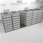 Moving Racks Storing Letter Legal File Boxes | Lateral Shifting Record Shelves | SMSQ265BX-4P7
