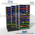 Parts Bins Industrial Track Shelving