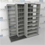 Slide-a-side storage shelving, side-to-side storage racks, Triple Deep racks, Datum