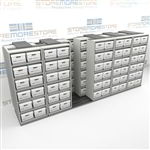 Sideways Record Box Racking for Storing Letter/Legal Folder Boxes | SMST065BX-4P6