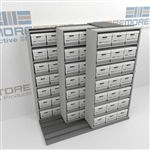 Dead File Storage Racks | Space Saving Record Box Shelving Steel Shelves | SMST221BX-4P7