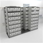 Save An Aisle Shifting Box Shelving Rolling Side to Side Storing Record Boxes | SMST232BX-4P7