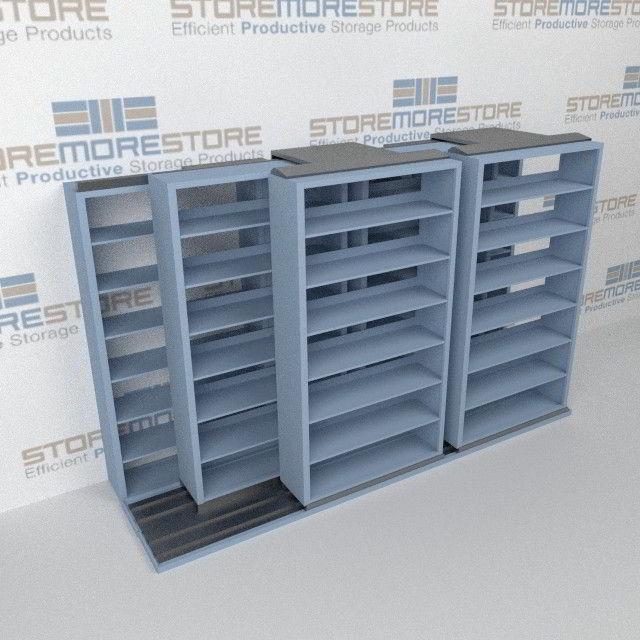 Sliding File Cabinets T232LT-4P7   Rolling Vertical Filing ...