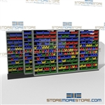 Sliding Parts Bin Shelves Racks