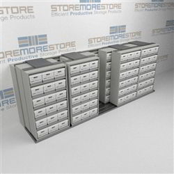 Sliding Box Shelves on Rails Condense Box Storage Space Rolling Archive Racks | SMST254BX-4P6