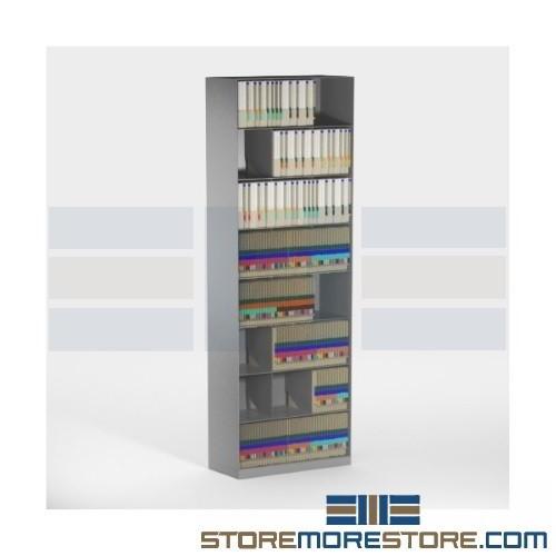Angled File Folder Storage Racks Slanted Filing Cabinets 48 Wide