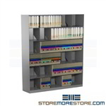 "Slanted Open Shelf Filing Shelves 48"" Wide Legal Side Tab File Storage"