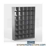 "Stackable Filing Cabinet Angled Shelves Legal 24"" Wide 6 High Levels"