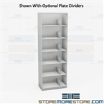Six Levels Letter Stack Shelving File Storage Racks Office Fileroom Cabinets