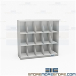Stack File Shelving Three-High Letter-Size Storage Cabinets Open Side Tab Racks