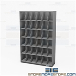 Thin Stack Shelving Six-High Letter Filing Rack Storage Cabinets Records Datum