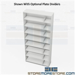 Thin Stack Shelving Eight-High Letter Storage Rack Office Folder Cabinets Datum