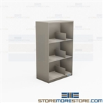 Counter High Binder Storage Shelving 3 Levels Three Ring Notebook Cabinets Rack