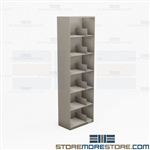 Thin Stack Binder Shelving Six-Tiers Storage Racks 3-Ring Notebook Cabinet