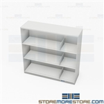 Binder Storage Counter Height Shelving 3 Levels Metal Cabinet 3-Ring Notebooks