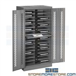 Charging Cabinet for 32 Laptops Notebooks iPads Tablets Locking 7224-CMP Tennsco