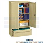 "Storage Cabinet with File Drawer Shelves Multiuse Tennsco DWR-6618 36""x18""x66"""