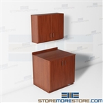 Copy Room Counter Wall Cabinets Modular Casegood Furniture Millwork Moveable