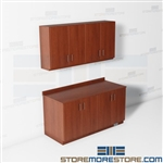 Closed Mail Room Wall Cabinets Casework Counters Upper Storage Movable Millwork
