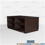 Copy Room Island Counter Cabinets Office Millwork Large Table Supplies Storage