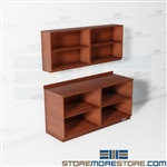 Open Workroom Cabinets Casework Counters Upper Wall Base Storage Shelves Office