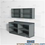 Copy Room Casework Upper Shelves Lower Cabinets Workroom Organizing Supplies