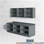 Mail Room Wall Cabinets Millwork Uppers Work Counter Supply Storage Shelves